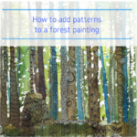 How to add zentangle patterns to a forest painting