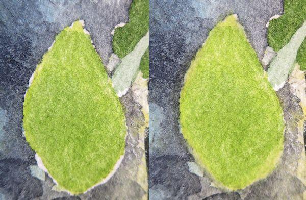 softening watercolor hard edges