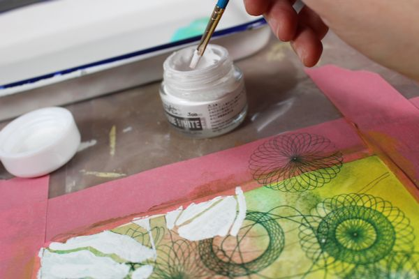 paint the negative space with acrylic ink
