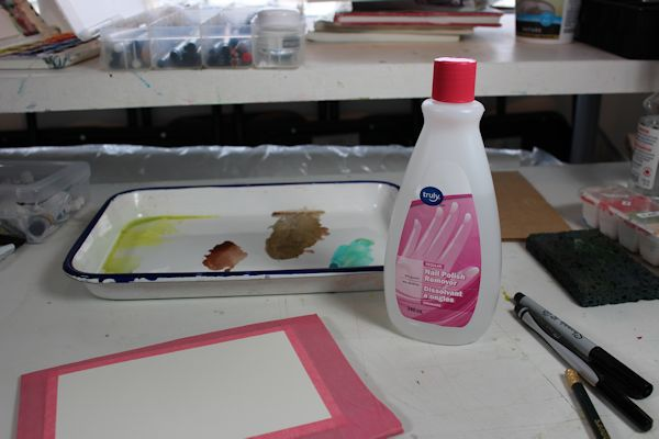 painting with acetone or alcohol