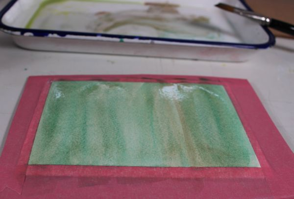 painting a a wash with acetone