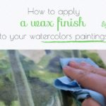 How to apply Dorland's wax medium on watercolor