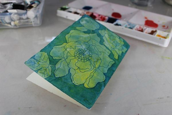 make your own flower postcards