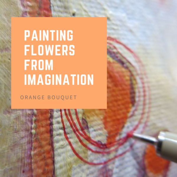 Painting flowers from imagination by Sandrine Pelissier on ARTiful painting demos