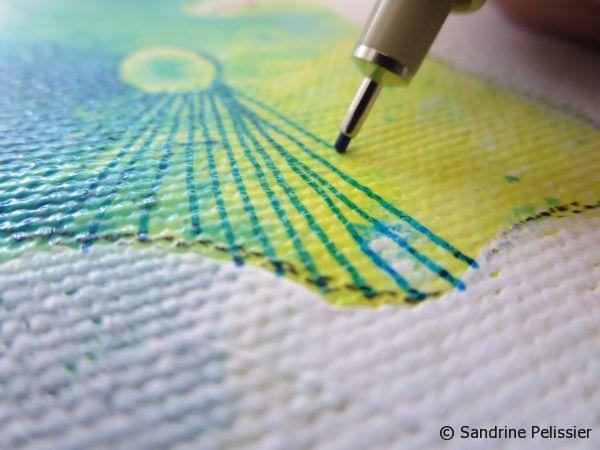 adding patterns with marker on canvas