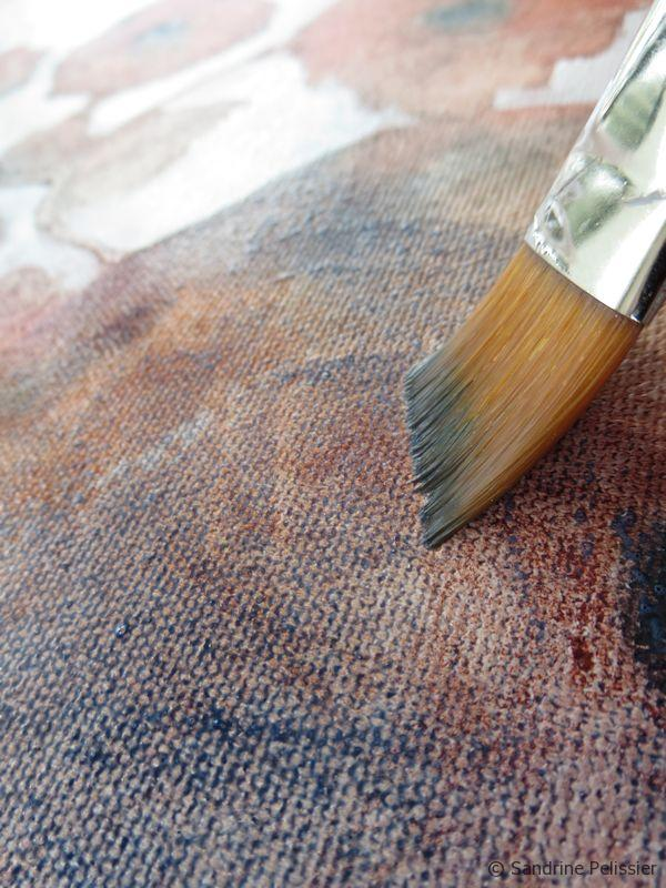 acrylic glazing by painting darker areas in Payne's grey
