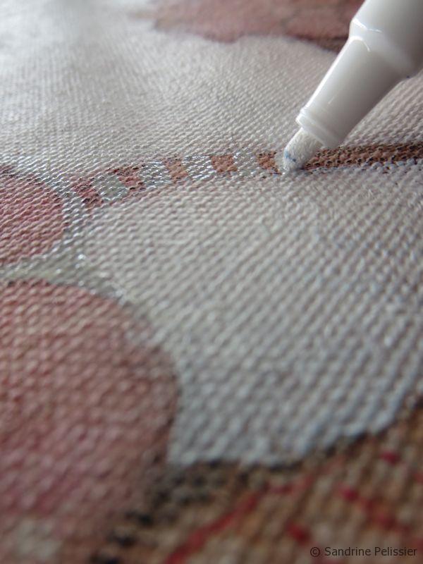 adding patterns with Oil white sharpie marker