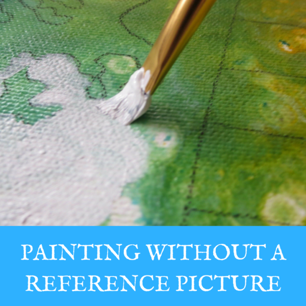 Painting without a reference picture on ARTiful, painting demos by Sandrine Pelissier
