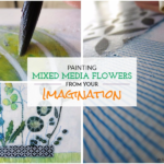 Painting mixed media Flowers from your imagination:  Greenery