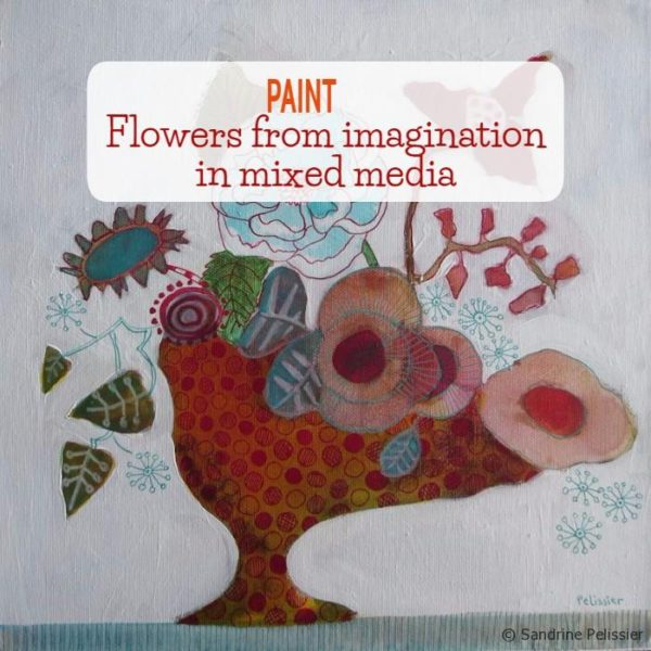 How To Paint Flowers From Imagination With Acrylic Ink On Canvas