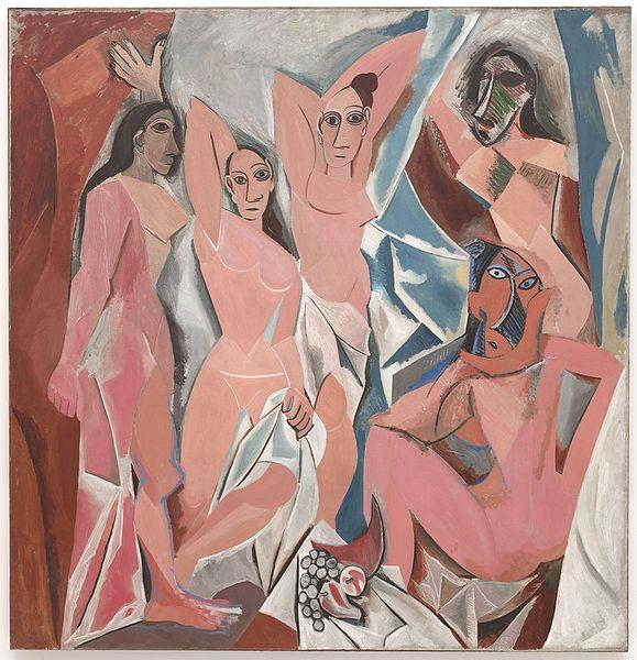 Pablo Picasso. Les Demoiselles d'Avignon. 1907 - via Wikipedia