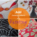 How to add zentangle patterns to your paintings: In Kyoto