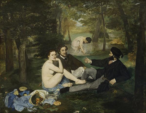 Le Déjeuner sur l'herbe- Edouard Manet Source via Wikipedia