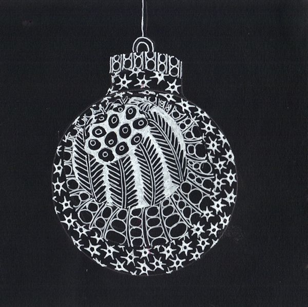 Zentangle and Mandala Inspired Christmas Cards Ideas ...