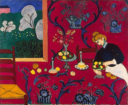 Henri Matisse, The Dessert: Harmony in Red (The Red Room), 1908 Source via Wikipedia