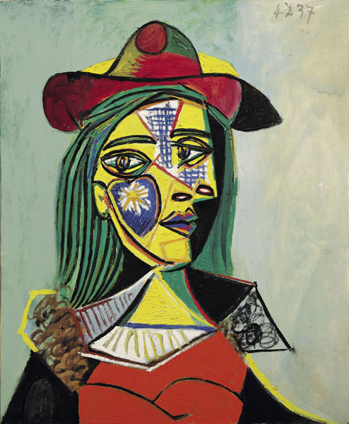 Woman in Hat and Fur Collar by Picasso 1937 Source via wikipedia