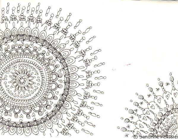 draw mandalas on postcards