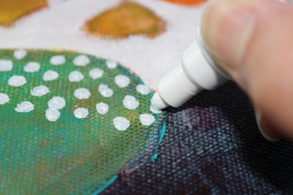 adding designs with a sharpie marker