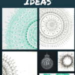 Zentangle and Mandala Inspired Christmas Cards Ideas