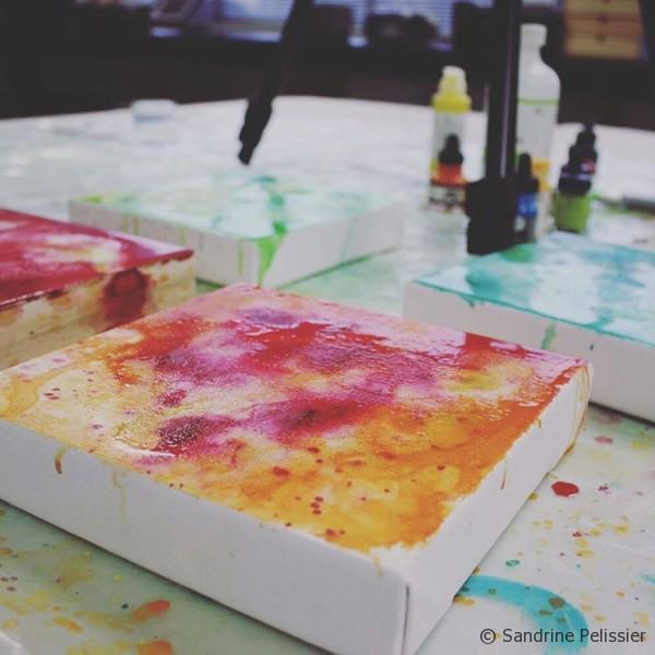 adding visual texture to your flower paintings background