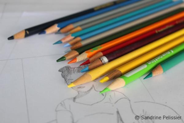 you can use colored pencils for preparatory sketches