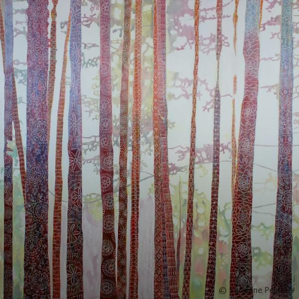 patterned trees forest painting