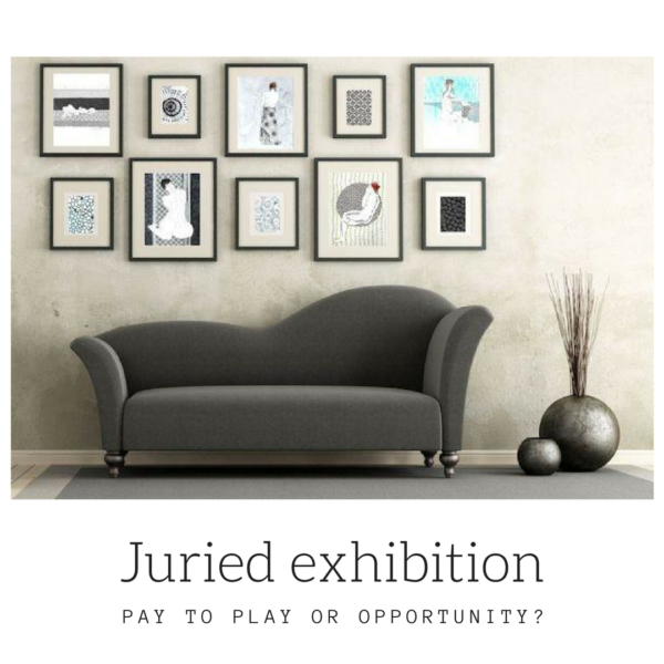 Juried exhibitions, pay to play or opportunity on ARTiful painting demos by Sandrine Pelissier