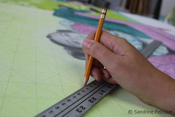 drawing a grid with a ruler