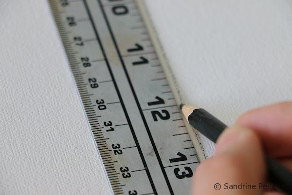 drawing the grid with a ruler
