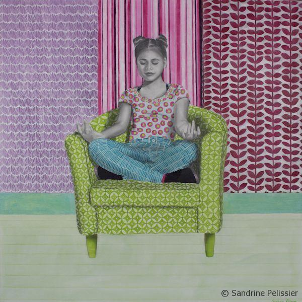 portrait painting with patterns