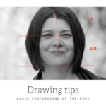 Portrait drawing : Basic proportions of the face
