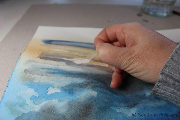using masking fluid on paper for watercolor