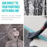 Add impact to your paintings with Indian Ink