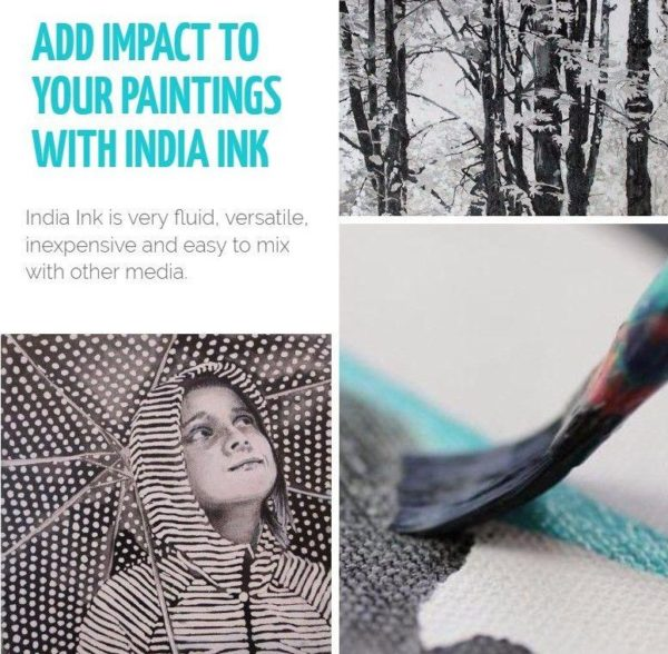 Add impact to your paintings with India ink