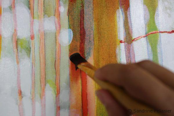 fluid acrylic inks on canvas