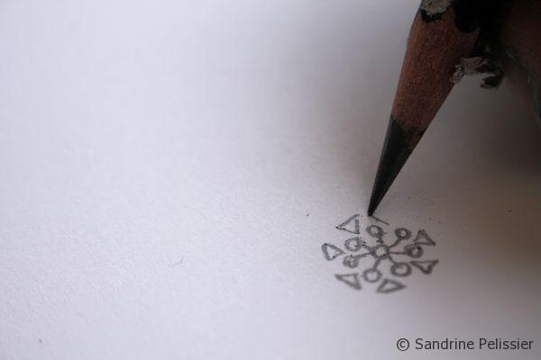 draw a mandala for a postcard