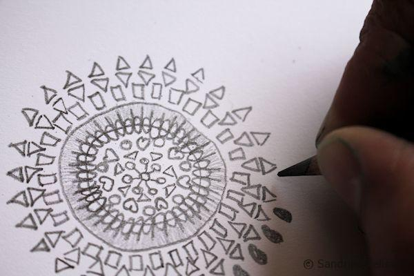 graphite mandala
