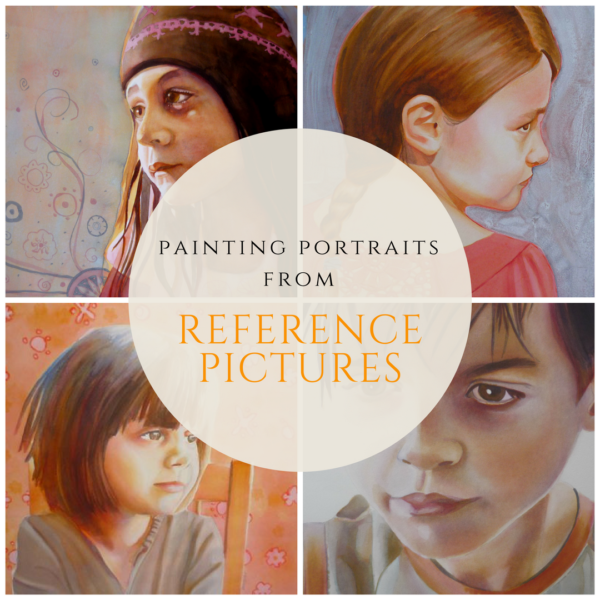 Painting portraits from reference pictures, what to watch for?