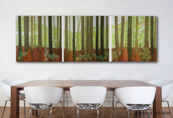patterned tree painting
