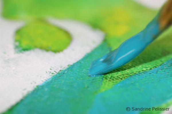 glazing with acrylic paint