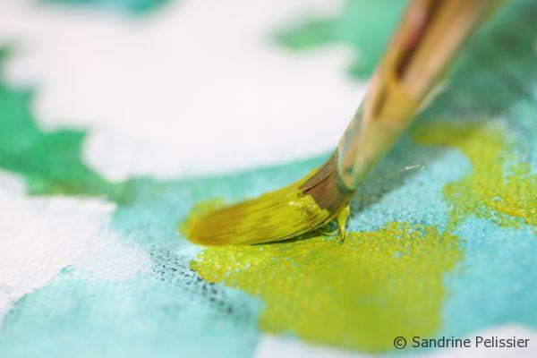 how to paint acrylic flowers step by step