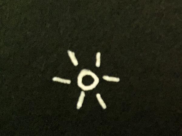 white gelly pen on black paper