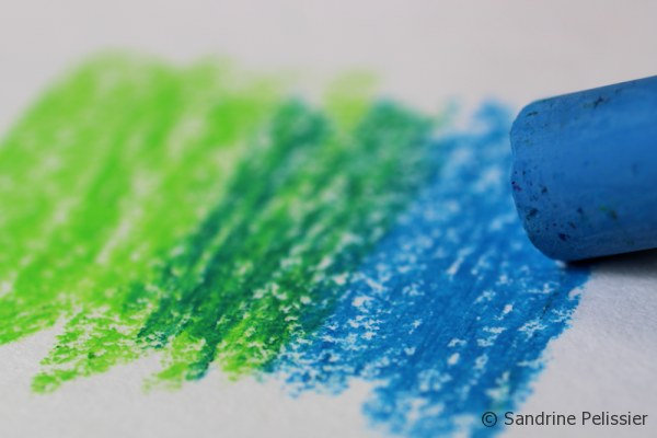 how to blend oil pastels with baby oil