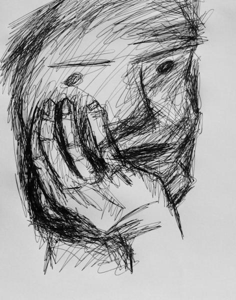 portrait scribbling