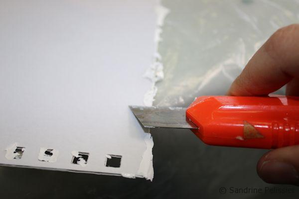 clean the sides with a cutter
