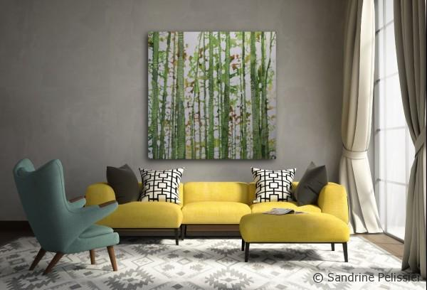 Big forest painting