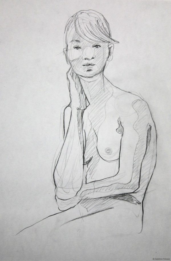 life drawing with hands