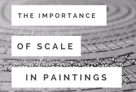 The importance of scale in painting: Small and Large paintings on ARTiful, painting demos by Sandrine Pelissier