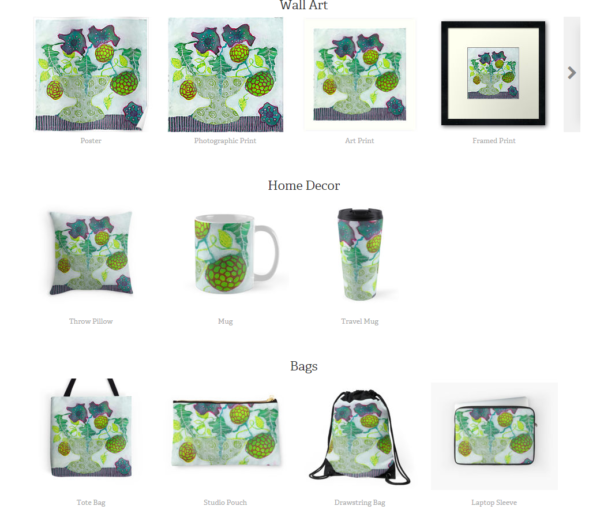 You can link to your online print on demand stores from your blog
