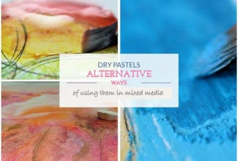 Dry pastels alternative ways of using them in mixed media paintings